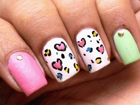 Toothpick nail art leopard heart tutorial amazingnailart do you want to create a heart leopard nail art design but you dont have the tools in creating images on your nails this nail tutorial will show you how to prinsesfo Images