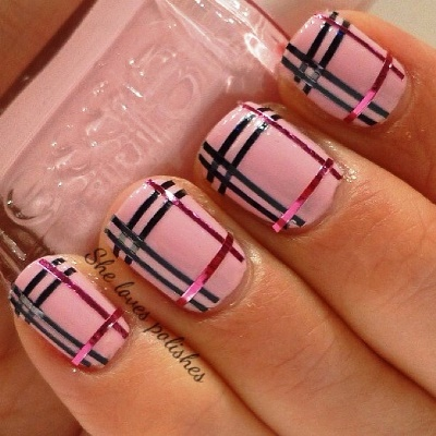 Striping tape nail art nail art trends for 2014 amazingnailart stripping tape s prinsesfo Choice Image