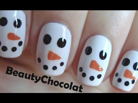 Quick And Easy Christmas Snowman Nail Art Amazingnailart