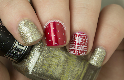 Merry Christmas Nail Art Ideas Form Nailsaurus Amazingnailart