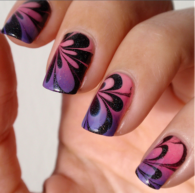 How To Do Water Marble Nail Art Amazingnailart
