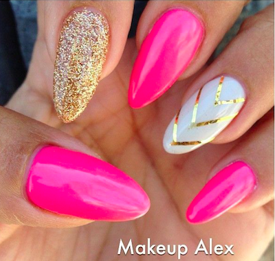 Pink stiletto nail designs to adore amazingnailart screen shot 2015 03 22 at 35630 am prinsesfo Gallery
