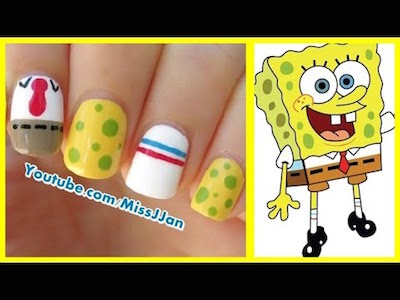Spongebob squarepants inspired nail art amazingnailart this nail art tutorial will show you how you can create a spongebob inspired nail art idea that is super easy prinsesfo Image collections