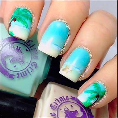 summer beach nail art tutorial  amazingnailart