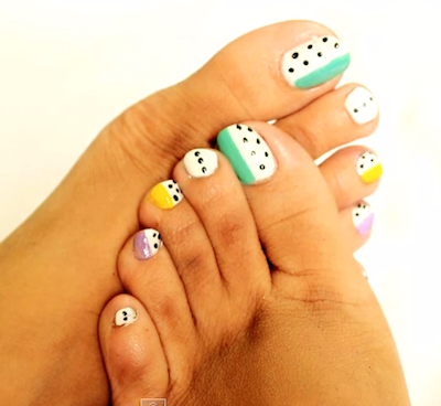 2 easy toe nail art design tutorial  amazingnailart