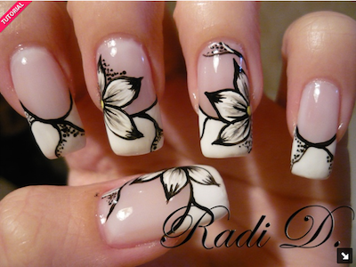 Screen Shot 2015-07-08 at 12.52.18 AM - Black And White Flower Gel Nail Art AmazingNailArt.org