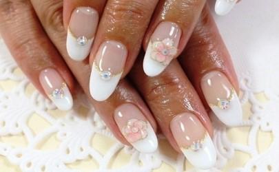 White Wedding Bride Nail Art Design Tutorial Amazingnailart
