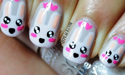 cute-bunny-nail-art-easter_zpsed6df3d4 - Simple Cute Bunny Nail Art Tutorial AmazingNailArt.org