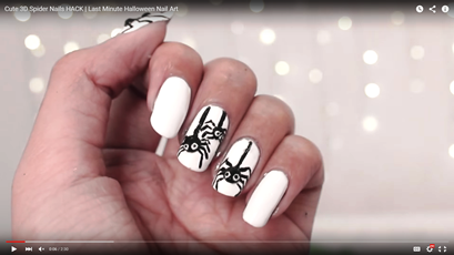 Cute 3d Spider Nails Hack Last Minute Halloween Nail Art