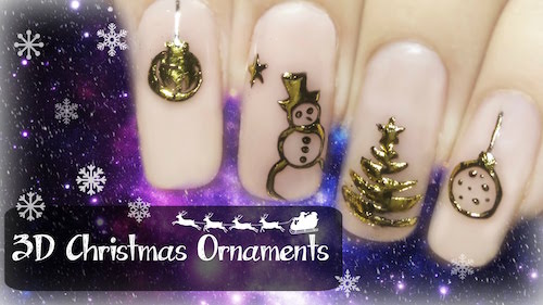 Easy 3d Christmas Ornaments Nail Art Amazingnailart