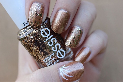 Bronze Prom Nails