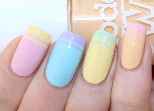 Double French Tip Nail Art