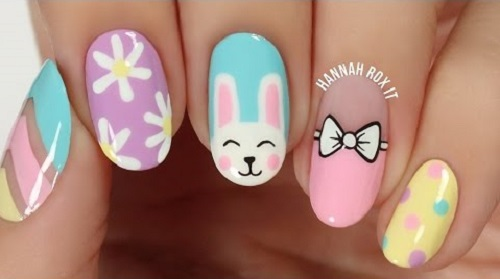 5 Cute SpringEaster Nail Art Ideas
