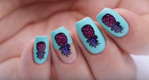 Pineapple Nail Art Pop Art Amazingnailart