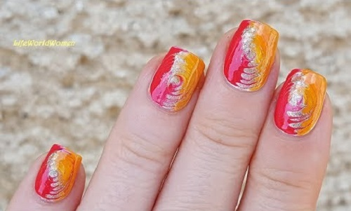 Cheerful Summer Swirl Nails Tutorial