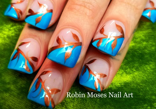 Easy Fall Leaves Nails