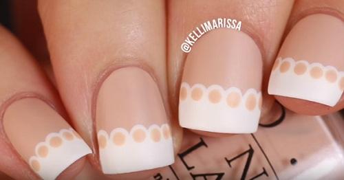 Easy Lace French Manicure Nail Art Design Amazingnailart