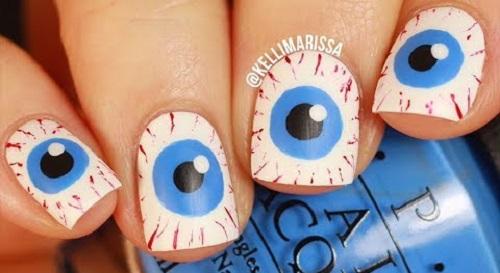Halloween Nails – Creepy Eyes