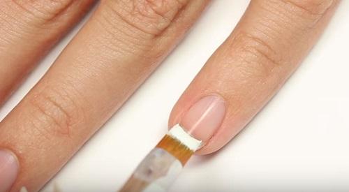 1-STROKE French Tip Nail Art Brush