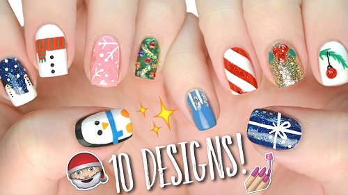 10 Easy Nail Art Designs for Christmas