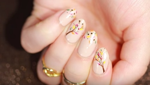 Fall Leaves DIY Nail Art Tutorial