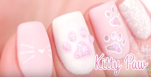 Kitty Paw Nail Art Amazingnailart