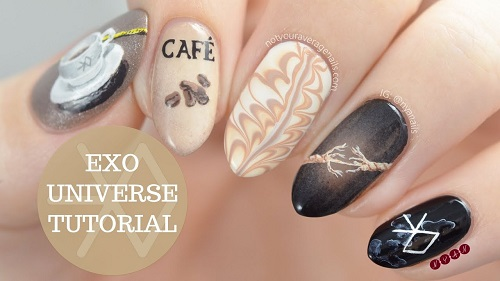EXO Universe Nail Art Tutorial