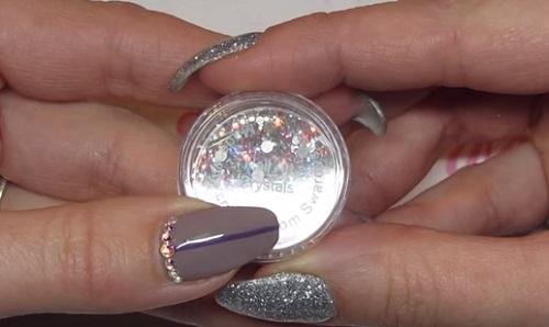 Amazingnailart pretty in pinks swarovski crystal nail art prinsesfo Image collections