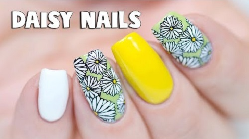 Cute Daisy Nail Art Amazingnailart