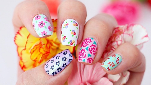 Floral Nail Art Designs Using Only Toothpicks Amazingnailart