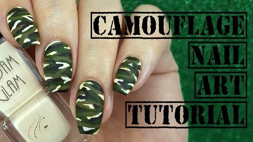 Camouflage Nail Art Amazingnailart