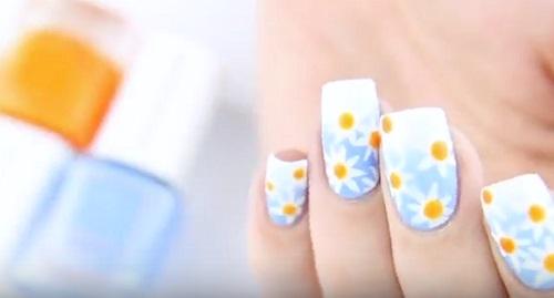 Daisy Nail Art Tutorial Amazingnailart