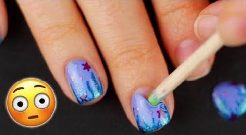 Peel Off Mermaid Nail Art Designs Amazingnailart Org