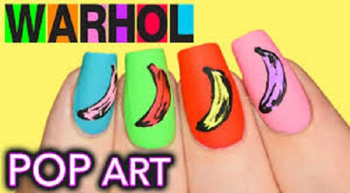 Andy Warhol Banana Pop Art Nails Amazingnailart