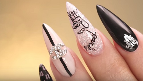 Chanel Inspired Nail Art Amazingnailart