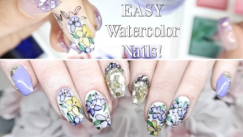 How To Use Water Color On Nails Amazingnailart